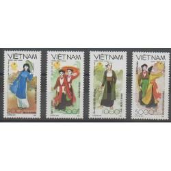 Vietnam - 1991 - No 1172/1175 - Costumes - Uniformes - Mode
