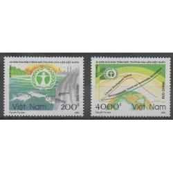 Vietnam - 1992 - No 1341/1342 - Environnement