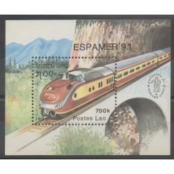 Laos - 1991 - No BF116 - Chemins de fer