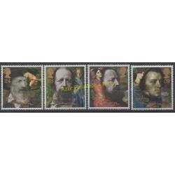 Grande-Bretagne - 1992 - No 1611/1614- Célébrités