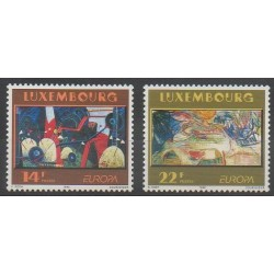 Luxembourg - 1993 - No 1268/1269 - Peinture - Europa