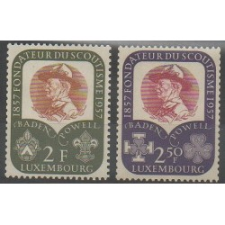 Luxembourg - 1957 - No 526/527 - Scoutisme
