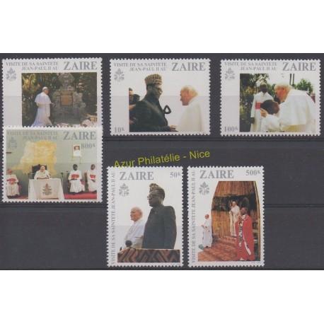 Zaïre - 1981 - No 1037/1042 - Papauté