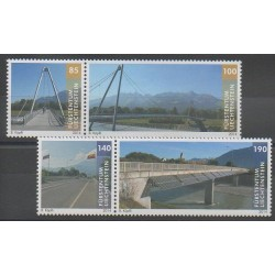 Liechtenstein - 2014 - No 1647/1650 - Ponts