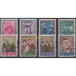 Ajman - 1964 - Nb 19/26- Celebrities - Used