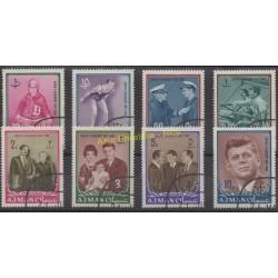 Ajman - 1964 - No 19/26- Célébrités - Oblitéré