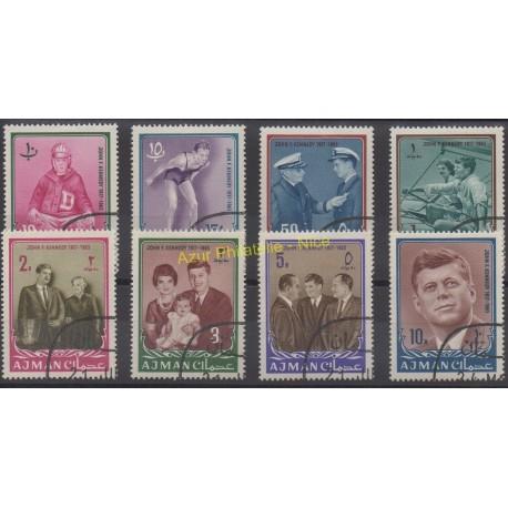 Ajman - 1964 - Nb 19/26- Celebrities - Used