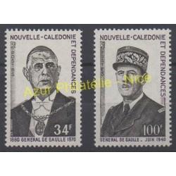 New Caledonia - 1971 - Nb 377/378 - de Gaulle