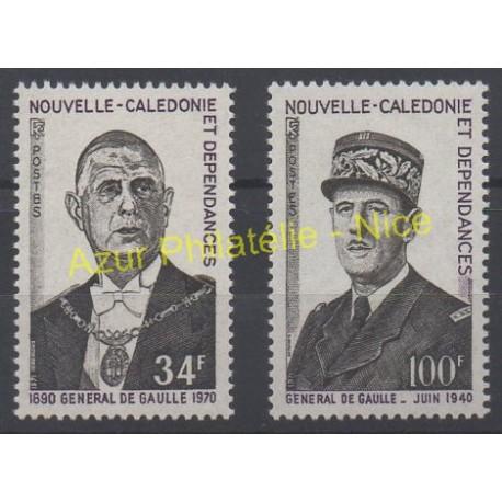 Nouvelle-Calédonie - 1971 - No 377/378 - de Gaulle