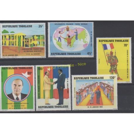 Togo - 1983 - No 1087/1089 et PA480/PA482- Célébrités