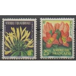 Afrique Equatoriale Française - 1958 - No 243/244 - Fleurs