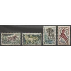 Afrique Equatoriale Française - 1957 - No 238/241 - Mammifères