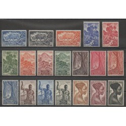 Afrique Equatoriale Française - 1947 - No 208/226