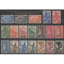 Afrique Equatoriale Française - 1947 - No 208/226 - Neufs avec charnière