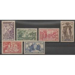 Afrique Equatoriale Française - 1937 - No 27/32 - Neufs avec charnière