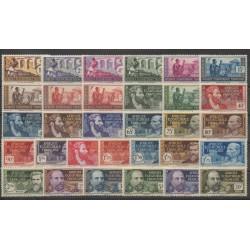 Afrique Equatoriale Française - 1937 - No 33/62 - Neufs avec charnière