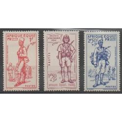 Afrique Equatoriale Française - 1941 - No 87/89 - Neufs avec charnière