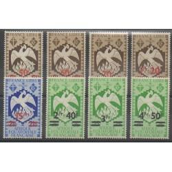 Afrique Equatoriale Française - 1945 - No 198/205 - Neufs avec charnière