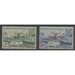 Afrique Equatoriale Française - 1944 - No 195/196