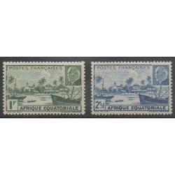 Afrique Equatoriale Française - 1940 - No 90/91 - Neufs avec charnière