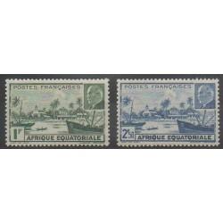Afrique Equatoriale Française - 1940 - No 90/91