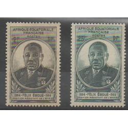 Afrique Equatoriale Française - 1945 - No 206/207