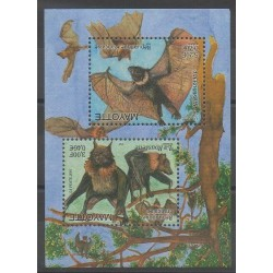 Mayotte - Block and sheet - 2001 - Nb BF5 - Mamals