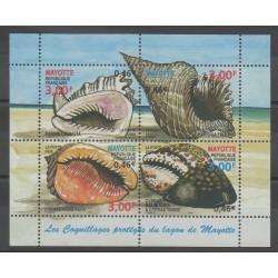 Mayotte - Bloc et feuillet - 2000 - No BF4 - Animaux marins