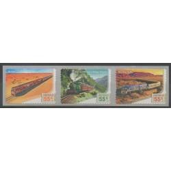 Australie - 2010 - No 3255/3257 - Chemins de fer