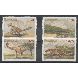 Romania - 2016 - Nb 5974/5977 - Prehistoric animals