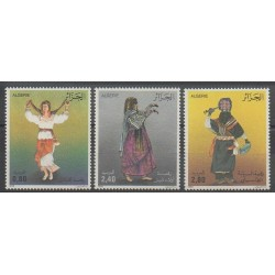 Algeria - 1986 - Nb 879/881 - Costumes