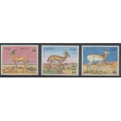 Algérie - 1992 - No 1016/1018 - Espèces menacées - WWF - Mammifères