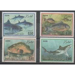 Algérie - 1985 - No 831/834 - Animaux marins