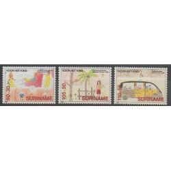 Suriname - 1989 - Nb 1171/1173 - Childhood - Children's drawings