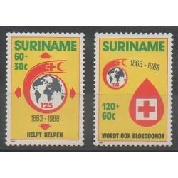 Surinam - 1988 - No 1135/1136 - Santé ou Croix-Rouge