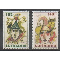 Surinam - 1995 - No 1373/1374 - Masques ou carnaval