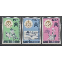 Suriname - 1987 - Nb 1079/1081 - Various sports