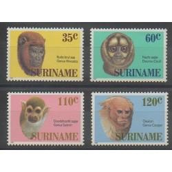 Surinam - 1987 - No 1061/1064 - Mammifères