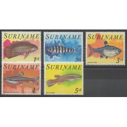 Surinam - 1978 - No 724/728 - Animaux marins