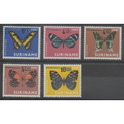 Surinam - 1977 - No 699/703 - Insectes