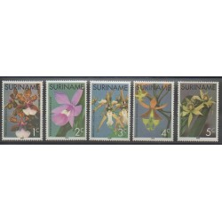Surinam - 1976 - No 635/639 - Orchidées