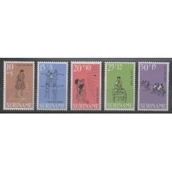 Surinam - 1968 - No 486/490 - Enfance