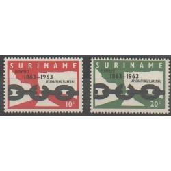 Surinam - 1963 - No 383/384 - Droits de l'Homme