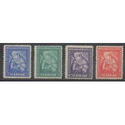 Surinam - 1928 - No 131/134 - Santé ou Croix-Rouge - Neufs avec charnière