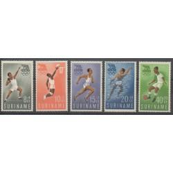 Surinam - 1960 - No 336/340 - Jeux Olympiques d'été