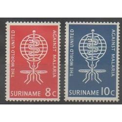 Surinam - 1962 - No 371/372 - Santé ou Croix-Rouge