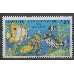 Mayotte - Poste - 1997 - No 51 - Animaux marins