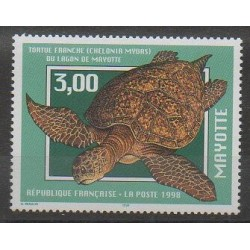 Mayotte - Poste - 1998 - No 52 - Reptiles