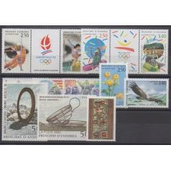 Andorre - Année complète - 1992 - No 413/424