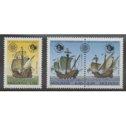 Moldavie - 1992 - No 35/37 - Navigation - Christophe Colomb